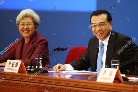 Stock Photo of Li Keqiang and Fu Ying