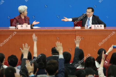 Editorial image of Chinese Premier Li Keqiang press conference, Beijing, China - 15 Mar 2017