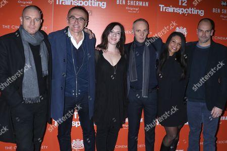 Ewan McGregor, Danny Boyle, Hannah Minghella, Ewen Bremner, Nicole Brown and Jonny Lee Miller