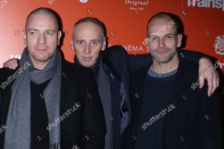 Ewan McGregor, Ewen Bremner and Jonny Lee Miller