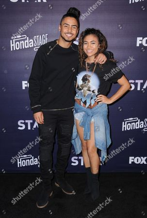 Stock Photo of Quincy Brown and Paige Hurd