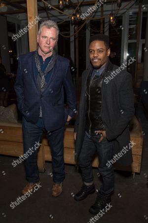 Stock Image of Aidan Quinn and Jon Michael Hill