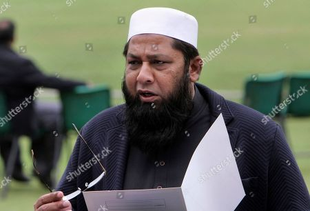 Pakistan cricket chief selector Inzamam-ul-Haq speaks during a press conference to announce the Twenty20 and one-day international squad for the upcoming series against West Indies, in Lahore, Pakistan, . Pakistan has recalled veteran Kamran Akmal and Ahmed Shehzad for the Twenty20 and one-day international series against the West Indies. The four-match T20 series begins from March 26 at Barbados while the three ODIs will be played at Guyana in between Apr. 7-11