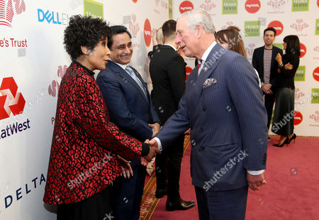 Prince Charles with Moira Stuart as they attend the Prince's Trust Celebrate Success Awards