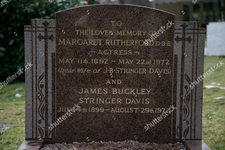 Dame Margaret Rutherford grave at Saint James Churchyard, Gerrards Cross, Buckinghamshire