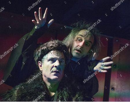 Michael Matus as Dionysos, Jonathan Wadey as Charon,