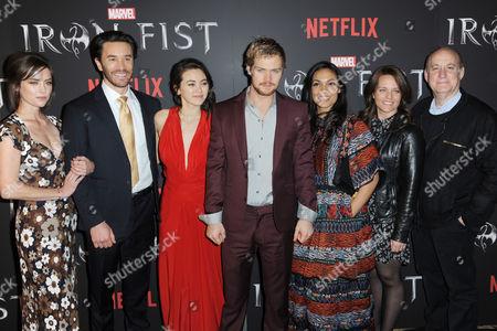 Jessica Stroup, Tom Pelphrey, Jessica Henwick, Finn Jones, Rosario Dawson, Allie Goss (Netflix), Jeph Loeb (Marvel)