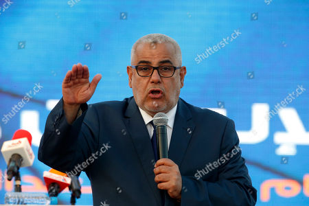 Abdelilah Benkirane, Moroccan Prime Minister and leader of the Islamist Justice and Development Party, known as the PJD, speaks during a campaign rally in Sale near Rabat, Morocco. In a highly unusual move, Morocco's king ousted Benkirane in an effort to settle a five-month deadlock over forming a new government