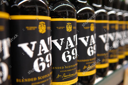 Stock Image of Vat 69,blended scotch whisky