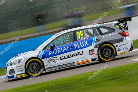 #99 Team BMR's - Subaru Levorg GT driver,  Jason Plato during the British Touring Car Championship Media Day at Donington Park, Castle Donington