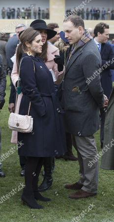 Annabel Ballin and Lord Frederick Windsor at the St.Patrick's Thursday meeting at Cheltenham.