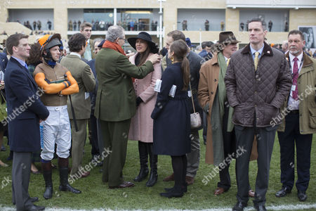 Stock Picture of (L to R) Jockey Sam Waley-Cohen, Annabel Ballin, Sophie Winkleman and Lord Frederick Windsor at the St.Patrick's Thursday meeting at Cheltenham.