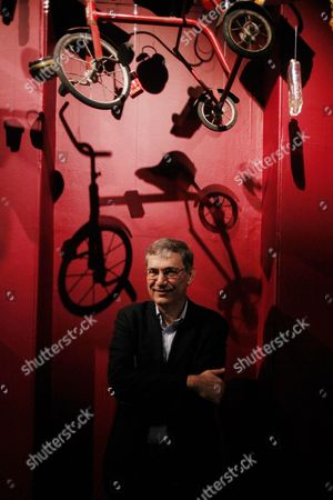 Nobel Laureate Orhan Pamuk at his Museum of Innocence exhibition at Somerset House, London, UK