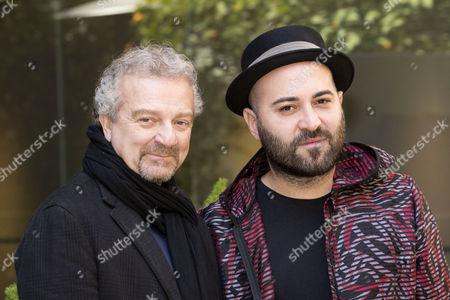 Director Giovanni Veronesi (left) and Giuliano Sangiorgi