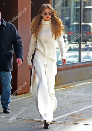 Editorial image of Gigi Hadid out and about, New York, USA - 16 Mar 2017