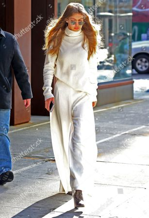 Editorial photo of Gigi Hadid out and about, New York, USA - 16 Mar 2017