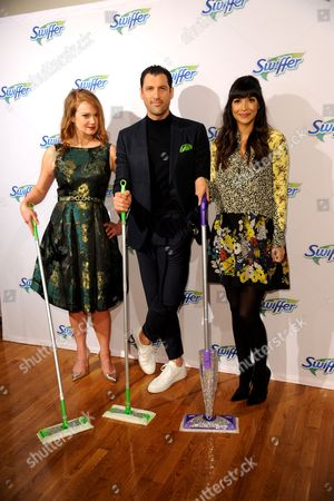 Stock Image of Kelly Williams Brown, Maksim Chmerkovskiy, Hannah Simone