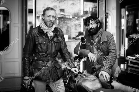 Sam Pelly and Siddhartha Lal, CEO Royal Enfield