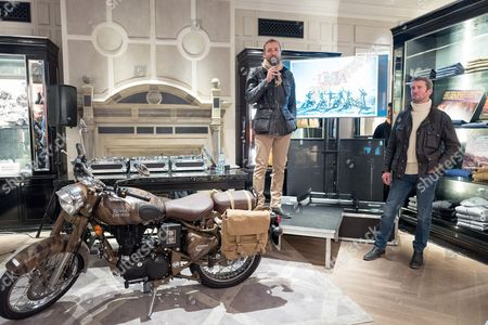 Editorial picture of Belstaff collection launch with Legendary Motorcycle Adventures, Spring Summer 2017, London, UK - 16 Mar 2017