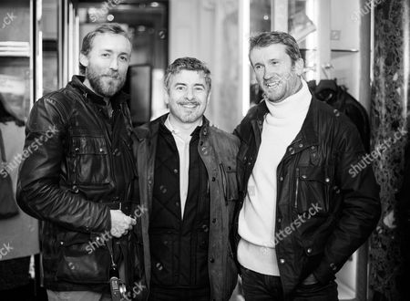 Sam Pelly of LMA and Gavin Haig, CEO of Belstaff and Ed Talbot-Adams of LMA