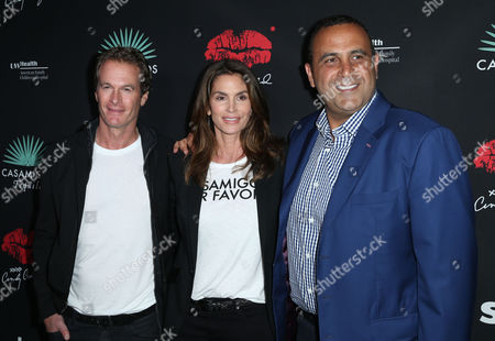 Rande Gerber, Cindy Crawford and Sam Nazarian