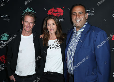 Stock Image of Rande Gerber, Cindy Crawford and Sam Nazarian