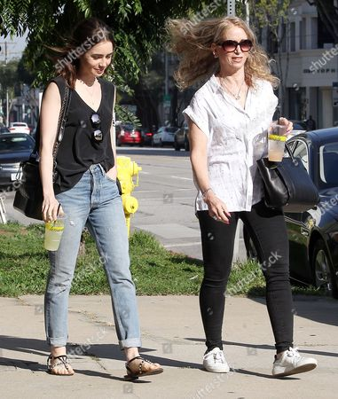 Lily Collins and Jill Tavelman out for lunch