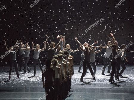 Stock Image of 'Flight Pattern' choreographed by Crystal Pite performed by the Royal Ballet