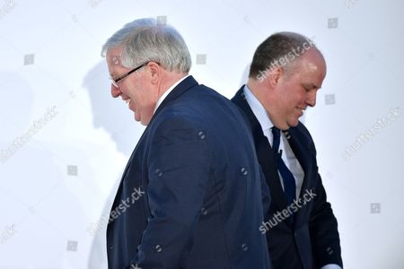 Patrick McLoughlin, Conservative Party Chairman, and Andrew R. T. Davies, Leader of the Conservative Party in the National Assembly for Wales
