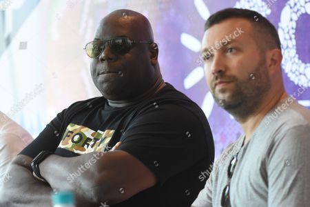 Carl Cox and Nic Fanciulli attend at press conference to promote The Social Festival