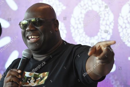 Carl Cox attends at press conference to promote The Social Festival