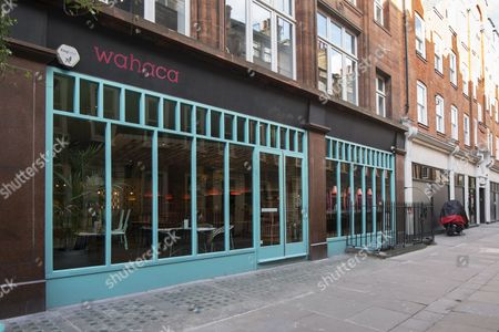 Wahaca Mexican street food restaurant in Meard Street, Soho, London, England, UK