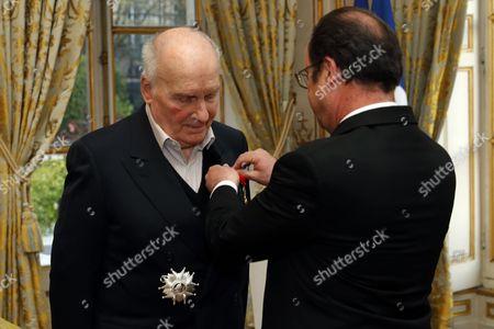 Michel Bouquet and Francois Hollande