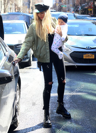 Editorial photo of Candice Swanepoel out and about, New York, USA - 17 Mar 2017