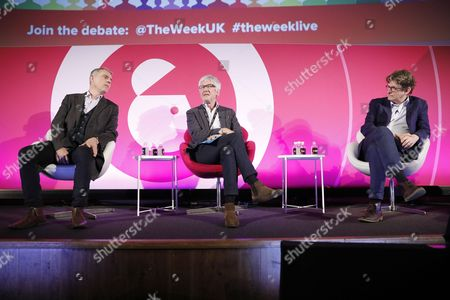 Peter Jukes (Author and Journalist, CEO, Byline Media Ltd), Jeremy O'Grady (Editor-in-Chief, The Week) and Alan Rusbridger (Former Editor in Chief, The Guardian)