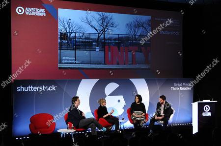 Nathaniel Hill (Planning Partner, McCann London UK), Simone Moessinger (Creative Director, 72andSunny), Misa von Tunzelman (UK Lead Director, JLL) and Nick Flynn (SVP, Shutterstock)