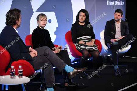 Stock Image of Nathaniel Hill (Planning Partner, McCann London UK), Simone Moessinger (Creative Director, 72andSunny), Misa von Tunzelman (UK Lead Director, JLL) and Nick Flynn (SVP, Shutterstock)