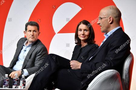 Josh Berger CBE (President and Managing Director, Warner Bros. UK, Ireland and Spain), Carolyn Fairbairn (Director General, CBI)and Riccardo Zacconi (CEO, King)