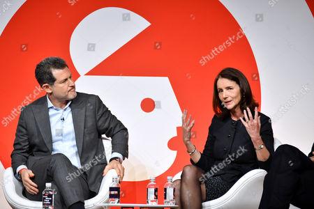 Josh Berger CBE (President and Managing Director, Warner Bros. UK, Ireland and Spain) and Carolyn Fairbairn (Director General, CBI)