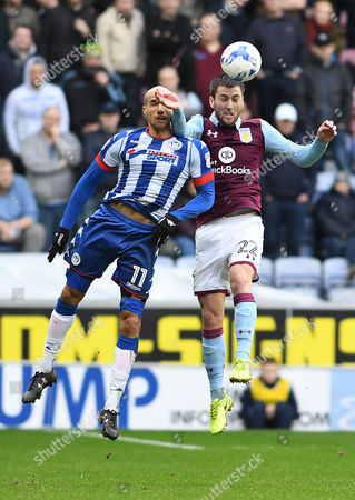Editorial photo of Football - Sky Bet Championship 2016/17 Wigan Athletic v Aston Villa DW Stadium, Robin Park, United Kingdom - 18 Mar 2017