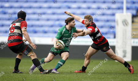 Ben Ransom of London Irish on the break during the Greene King IPA Championship Match between London Irish and Cornish Pirates on March 18th at the Madejski Stadium, Reading, Berkshire.