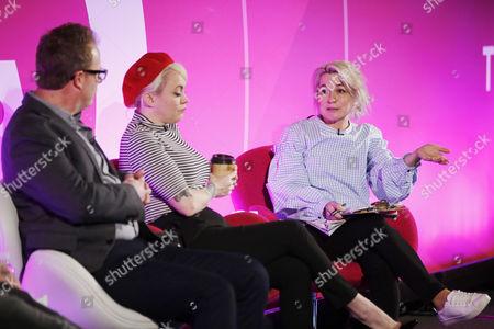 Terri White (Editor-In-Chief, Empire, Bauer Media) and Lucie Cave (Editor-in-Chief, Heat, Bauer Media)