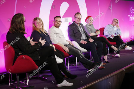Alex Baker (Radio and TV presenter of Absolute Radio, KerrangTV and 4music. DJ, Voiceover and Creative Director, Bauer Media), Megan Carver (Managing Director, Carver PR), Jonathan Saccone-Joly (Blogger/Vlogger, Gleam Futures), Ben Carlson (Co-Founder and Co-Ceo, Fizziology), Terri White (Editor-In-Chief, Empire, Bauer Media) and Lucie Cave (Editor-in-Chief, Heat, Bauer Media)