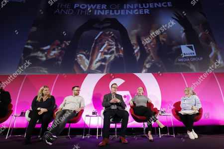 Megan Carver (Managing Director, Carver PR), Jonathan Saccone-Joly (Blogger/Vlogger, Gleam Futures), Ben Carlson (Co-Founder and Co-Ceo, Fizziology), Terri White (Editor-In-Chief, Empire, Bauer Media) and Lucie Cave (Editor-in-Chief, Heat, Bauer Media)