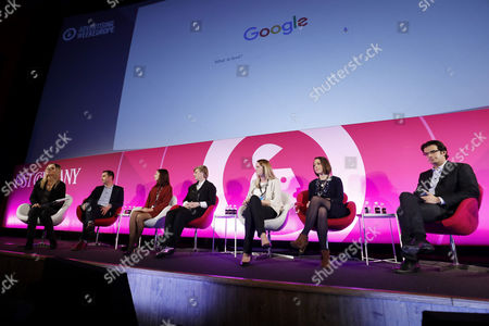 Editorial photo of 'OK Google, What's Next?' - Dawn of the Age of Assistance seminar, Advertising Week Europe 2017, Fast Company Stage, Picturehouse Central, London, UK - 21 Mar 2017