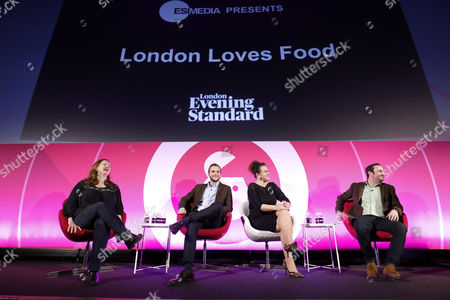 Angela Hartnett (Chef and Restauranteur), Daniel Dove (UK Zacapa Brand Ambassador, Diageo) and Grace Dent (Food Critic and Creative Director, London Evening Standard Food Month) and Jon O'Donnell (MD Commercial, ESI Media)