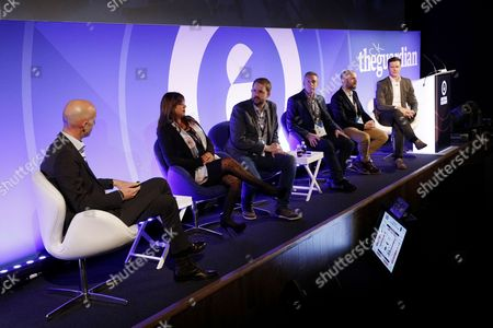 John Wittesaele (EMEA President, Xaxis), Sandy Ghuman (Campaign Planning and Delivery Manager, Sky), Richard Lloyd (EMEA Chief Digital Officer, Maxus), Paul Rowlinson (Managing Director, [m]Platform, GroupM), Jon Mew (CEO, IAB UK) and Nigel Gilbert (VP Strategic Development EMEA, AppNexus)
