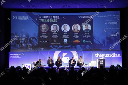 Steve Wing (Managing Director UK & Nordics, Rubicon Projects), Ryan Rummery (Head of DAX, Digital and Mobile, Global) , Alison Moore (Chief Revenue Officer), Chris Forrester (UK Country Manager, Spotify), Adam Hancox (Programmatic Director, Publicis Media)