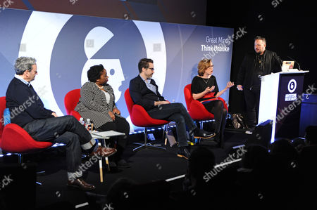 Doug Kessler (Co-Founder and Creative Director, Velocity Partners), Suki Fuller (Founder and Managing Director, Miribure Ltd), Alex Cheeseman (Chief Strategy Officer, Storyful), Maureen Blandford (CMO, Software Improvement Group) and Jason Miller (Global Content Marketing, LinkedIn)