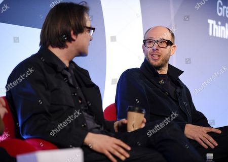 Adam Smith (Commercials and Film Director, Adam Smith) and Tom Rowlands (Musician) speaking at an NME event at Advertising Week Europe